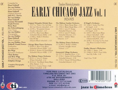 Early Chicago Jazz, Vol. 1 (1923-25)