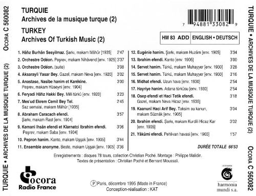 Archives of Turkish Music, Vol. 2