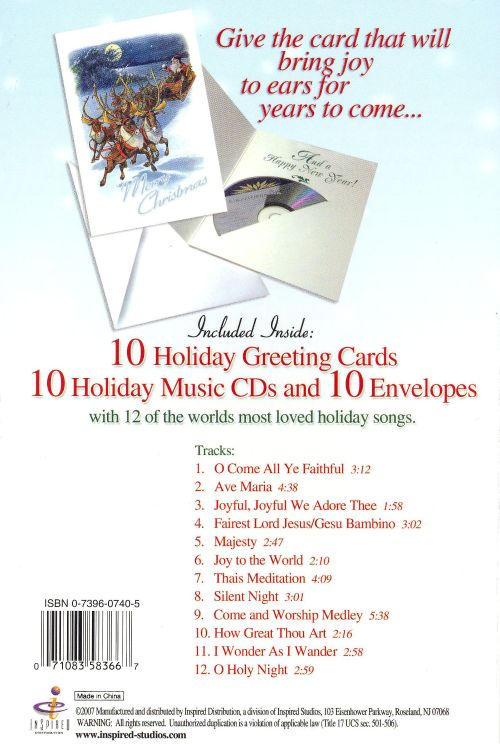 Merry Christmas: 10 Holiday Greeting Cards, 10 Envelopes, 10 CD's
