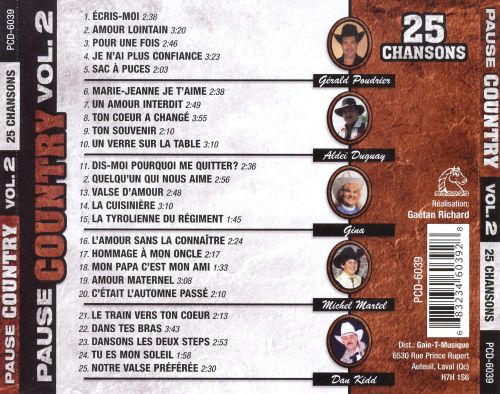 Pause Country, Vol. 2: 25 Chansons