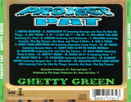 Project pat ghetty green (cd, album) | discogs.