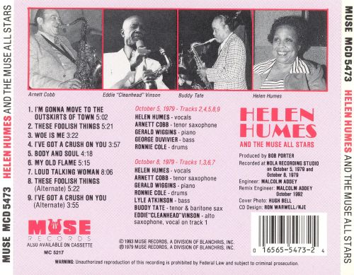 Helen Humes and the Muse All Stars