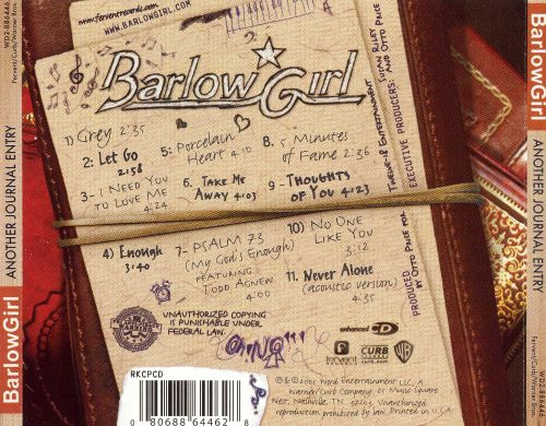 barlowgirl another journal entry