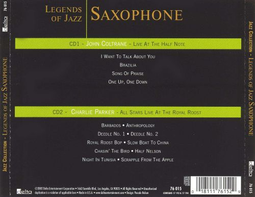 Legends of Jazz Saxophone