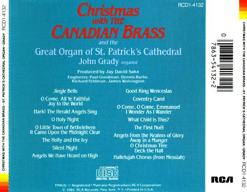 Christmas with the Canadian Brass - Canadian Brass | Songs ...