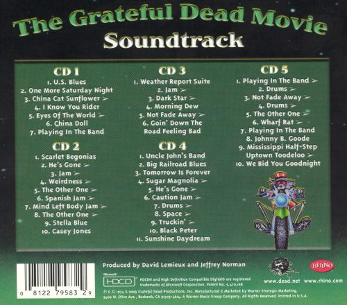 The Grateful Dead Movie Soundtrack: 5-CD Set