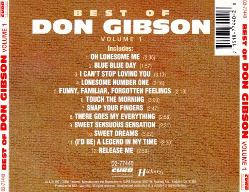 The Best of Don Gibson, Vol. 1 [Capitol/Curb]