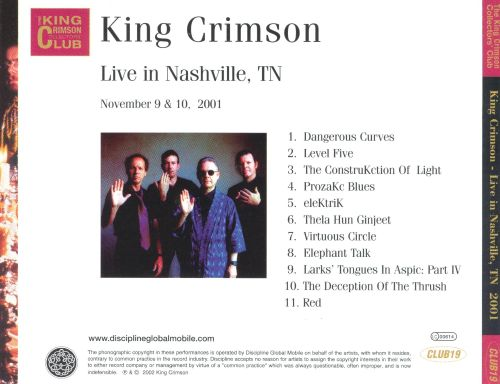 Live in Nashville, TN 2001