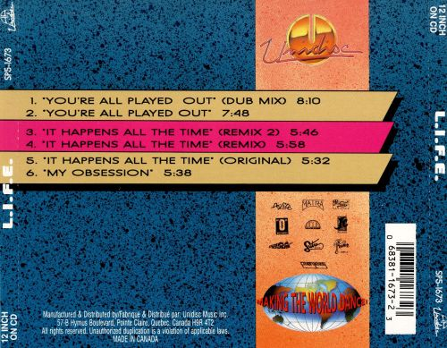 You're All Played Out [CD]