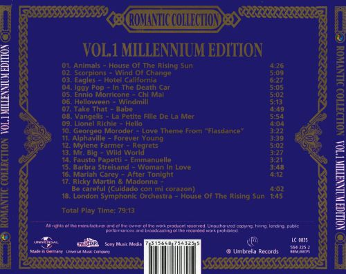 Romantic Collection, Vol. 1: Millennium Edition
