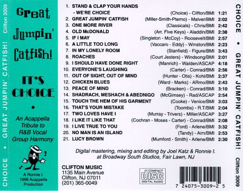 Great Jumpin' Catfish/Capella Trib