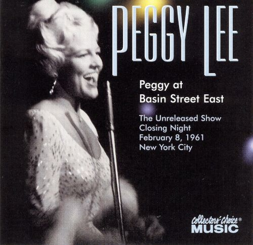Peggy at Basin Street East