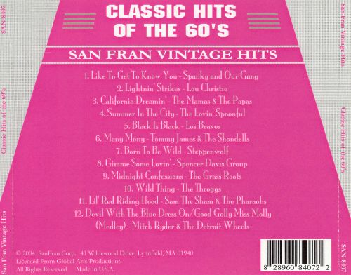 Classic Hits of the 60's
