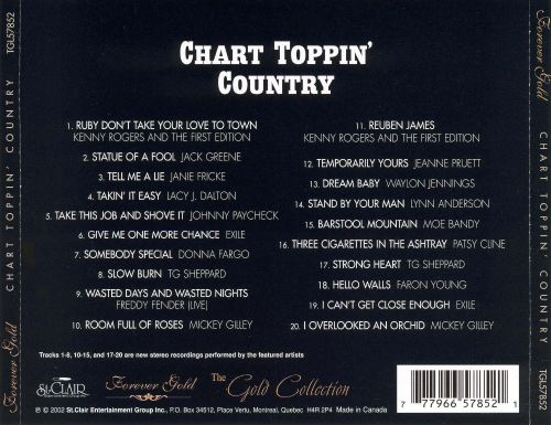 Gold Collection: Chart Toppin' Country