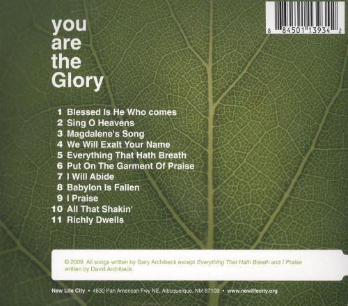 You Are the Glory: Live