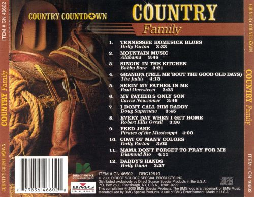Country Countdown: Country Family