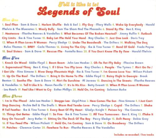 Tell It Like It Is!: Legends of Soul