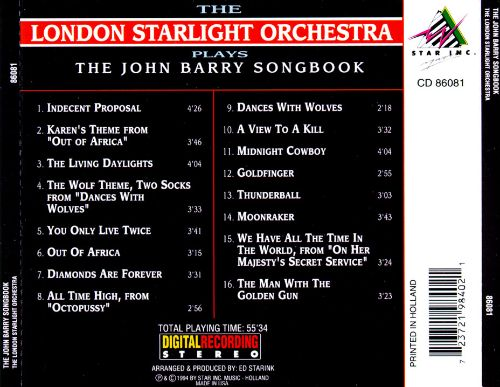 The John Barry Songbook