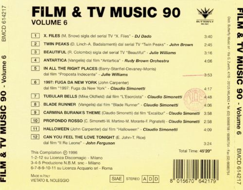 Film and TV Music 90's, Vol. 6