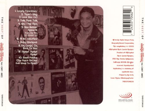The Best of Jackie Wilson, Vol. 1 1957-1965 [Collectables]