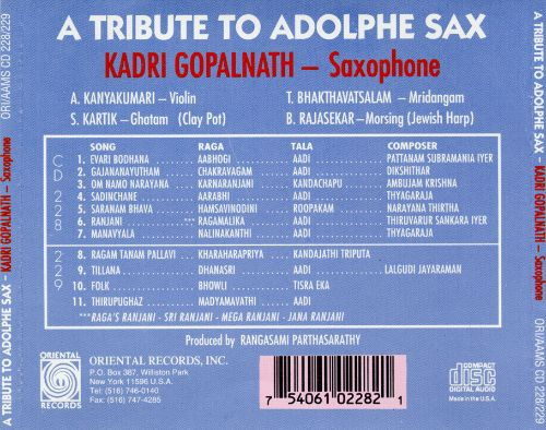A Tribute to Adolphe Sax