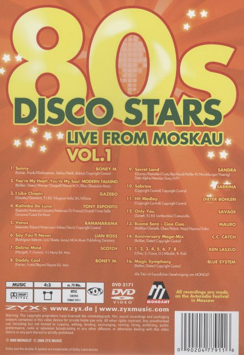 80s Disco Stars Live from Moskau, Vol. 1