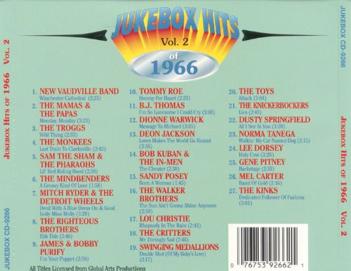 Jukebox Hits of 1966, Vol. 2