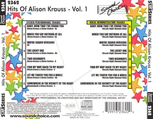 Hits of Alison Krauss, Vol.1