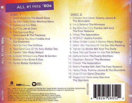 All #1 Hits '60s