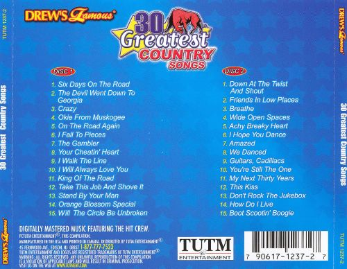 Drew's Famous 30 Greatest Country Songs, Vol. 1