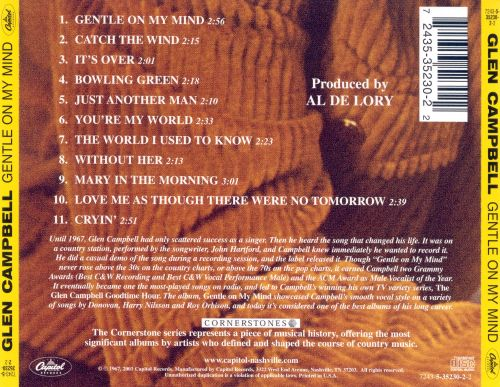 Gentle On My Mind Glen Campbell Songs Reviews Credits Allmusic