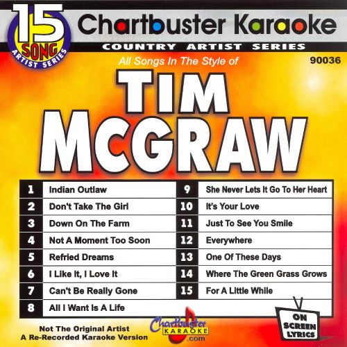 Chartbuster Karaoke: Tim McGraw, Vol. 1