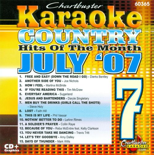 Karaoke: July 2007 Country Hits