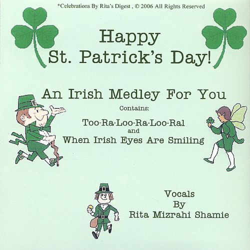 Happy St. Patrick's Day: Two Songs and a Poem for the Wearing of the Green