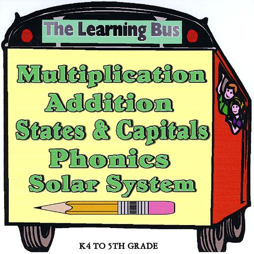 The Learning Bus: Multiplication, Addition, States & Capitals, Phonics, Solar System
