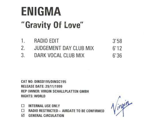 Gravity of Love [Germany]
