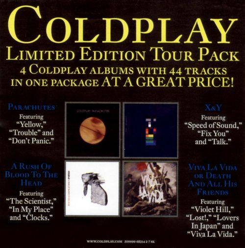 Coldplay XY Limited Edition Tour Pack