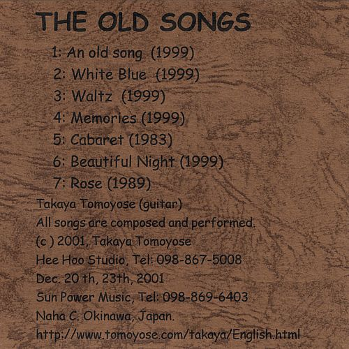 The Old Songs: 2002