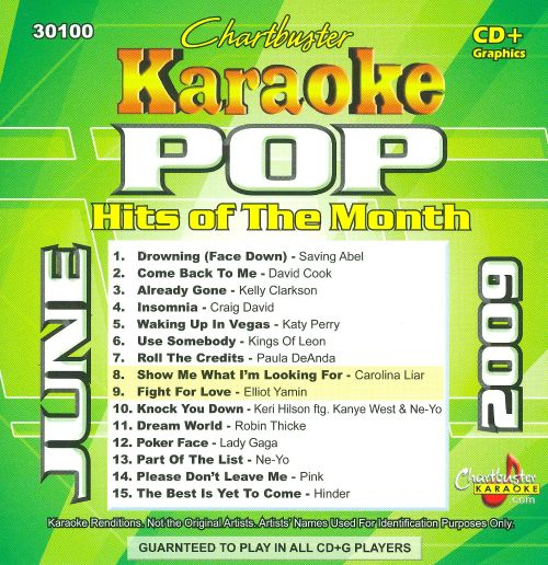 Chartbuster Karaoke: Pop Hits of the Month, June 2009