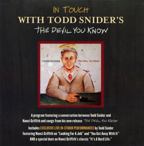 In Touch with Todd Snider's The Devil You Know