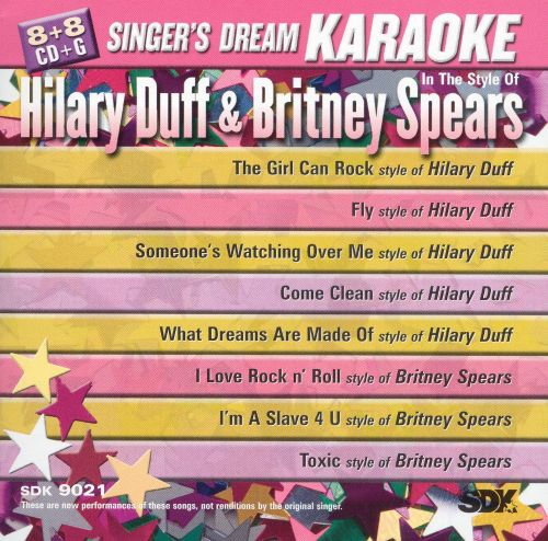 Hilary Duff and Britney Spears Karaoke