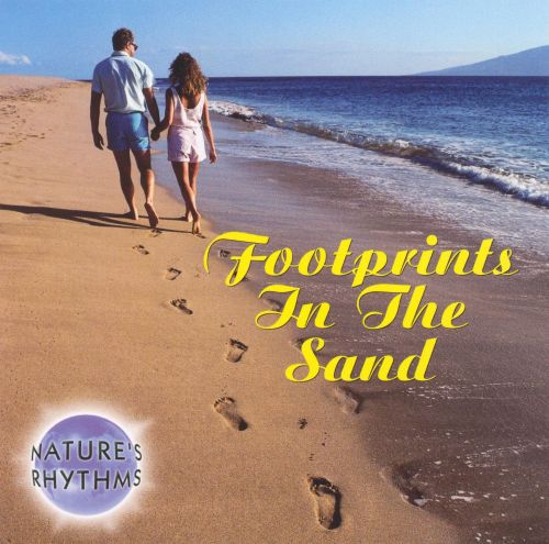 Nature's Rhythms: Footprints in the Sand