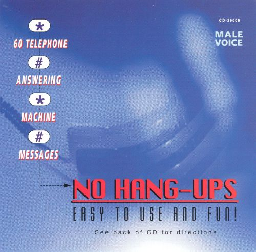 No Hang-Ups: Answering Machine (Male Voice)