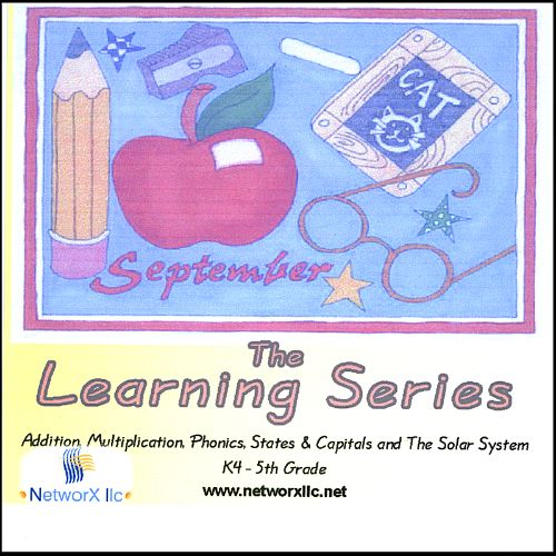 Learning Series: Multiplication, Phonics, Addition, The Solar System & States & Capital
