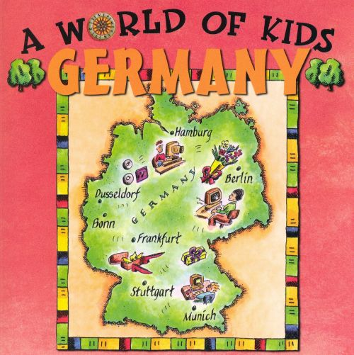Physical Map Of Germany For Kids