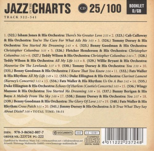 Jazz in the Charts, Vol. 25: Is It True What They Say About Dixie? 1936