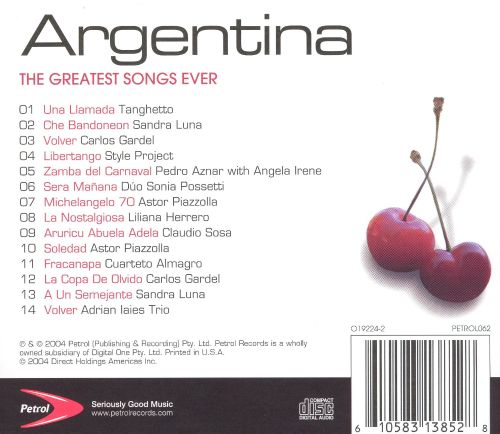 The Greatest Songs Ever: Argentina [Time Life]