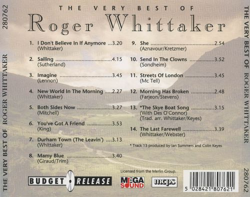 The Very Best of Roger Whittaker [Mega Sound]