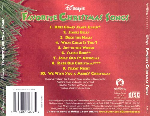 Disney's Favorite Christmas Songs - Disney | Songs, Reviews ...