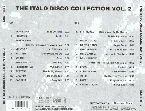 ZYX Italo Disco Collection, Vol. 2